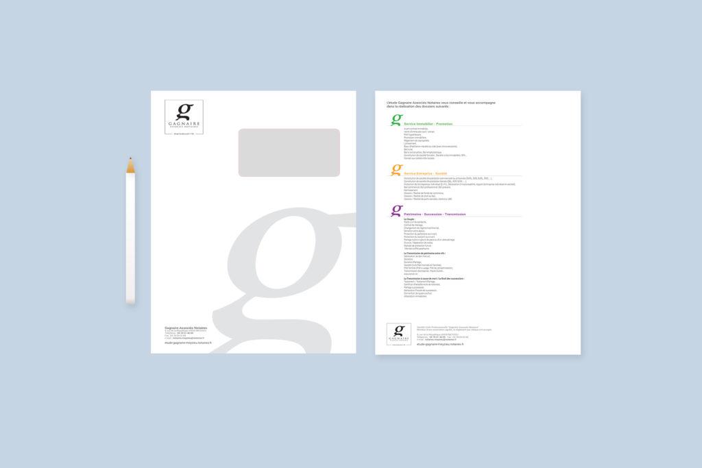 Un brin de campagne, Agence de communication, Lyon, partenaire de l'office notariale de Gagnaire - Meyzieu