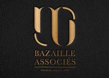 Logo, Bazaille et associés, charte graphique, notaires, office notarial, Givors